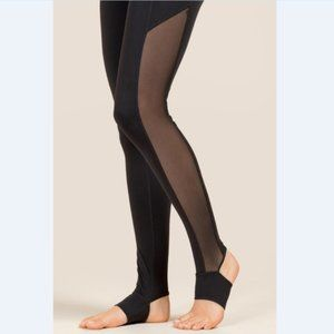 Black Stirrup Bottom Legging Yoga Workout
